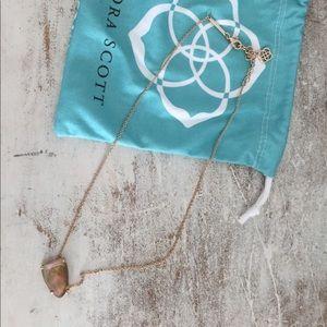 Kendra Scott Isla Pendant Necklace in Brown Pearl